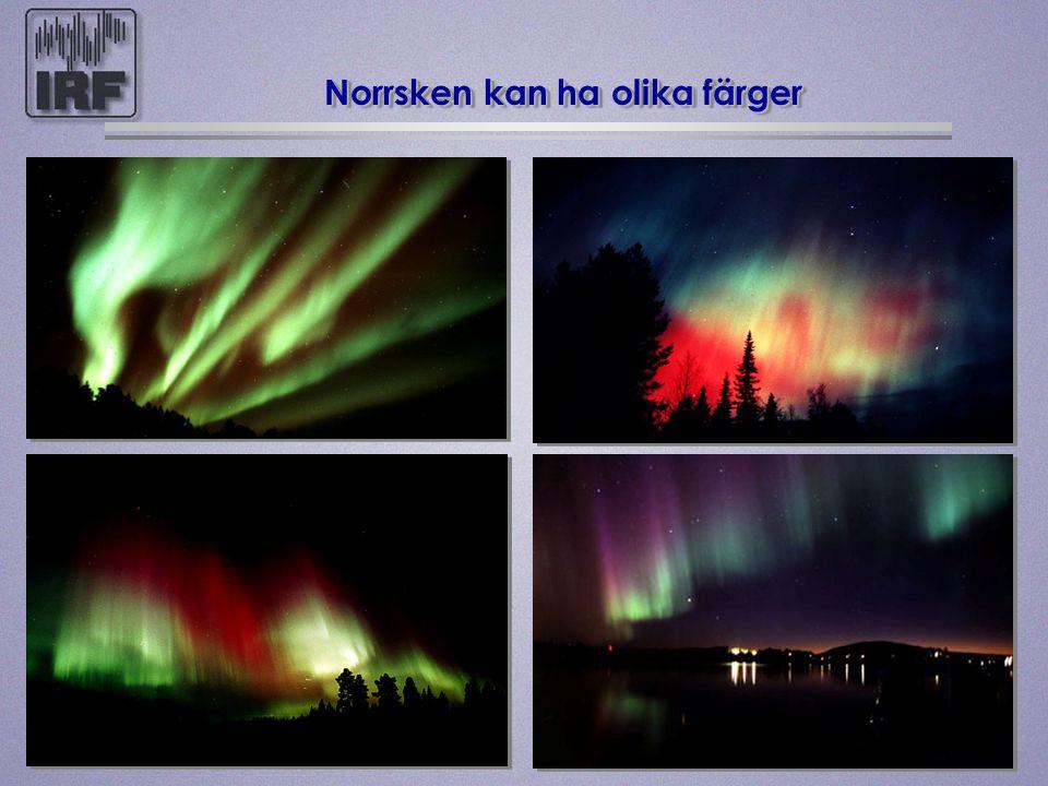 Norrsken kan ha olika färger