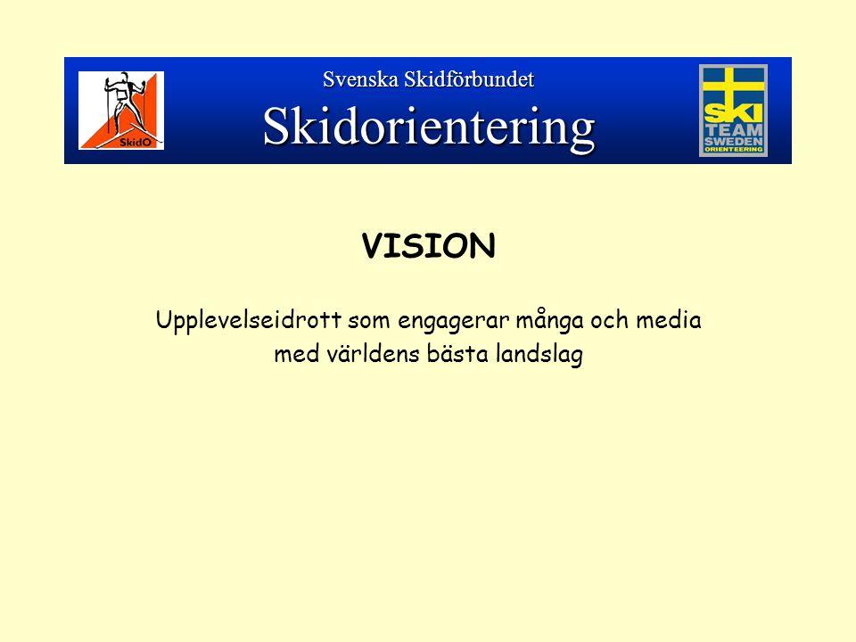 VISION Upplevelseidrott som engagerar många och media med världens bästa landslag Svenska Skidförbundet Skidorientering