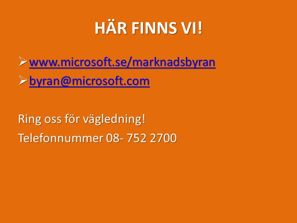 HÄR FINNS VI.