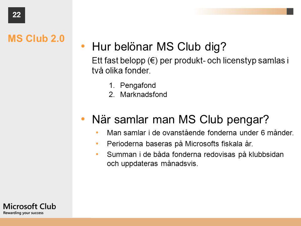 22 MS Club 2.0 Hur belönar MS Club dig.