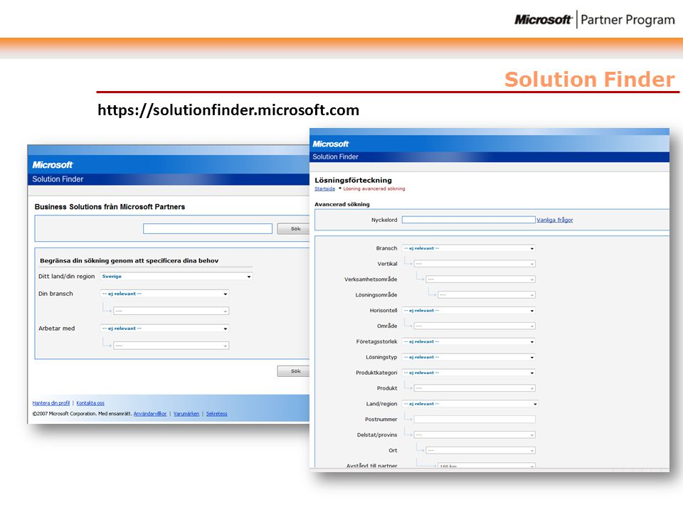 Solution Finder https://solutionfinder.microsoft.com