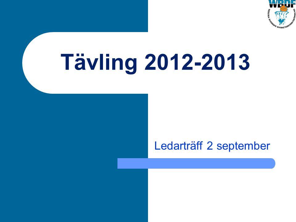 Tävling 2012-2013 Ledarträff 2 september