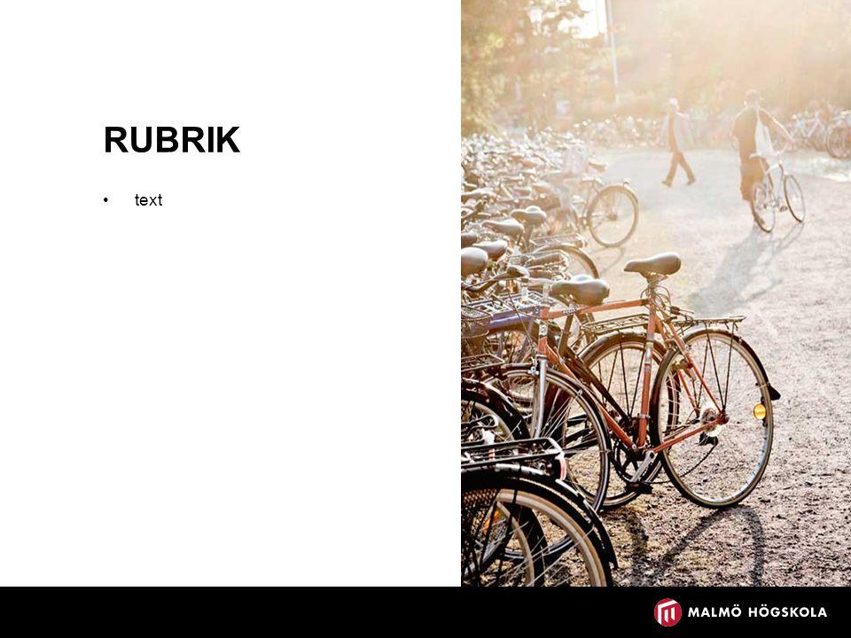 RUBRIK text