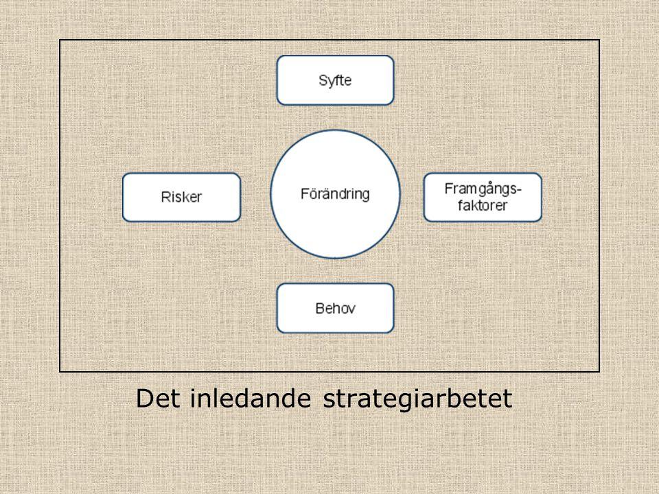 Det inledande strategiarbetet