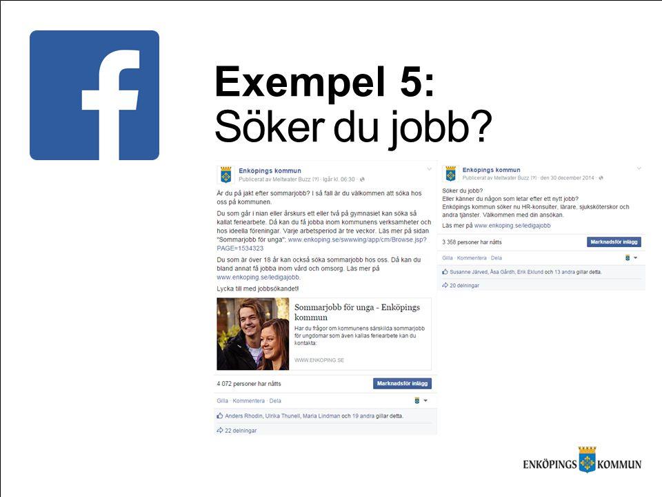 Exempel 5: Söker du jobb?