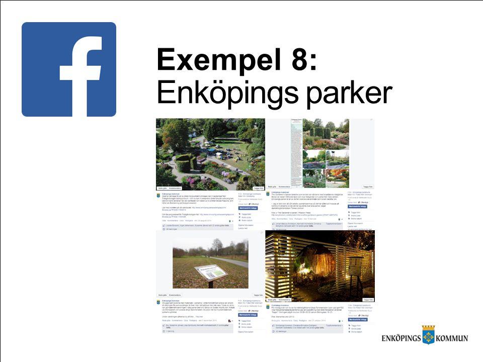 Exempel 8: Enköpings parker