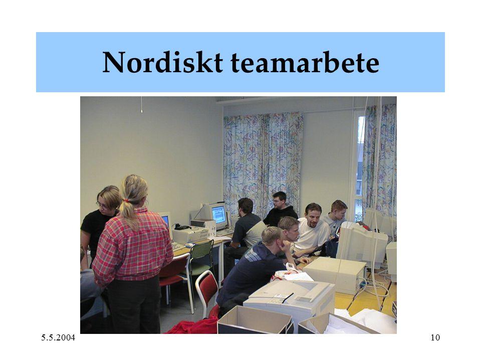 5.5.200410 Nordiskt teamarbete