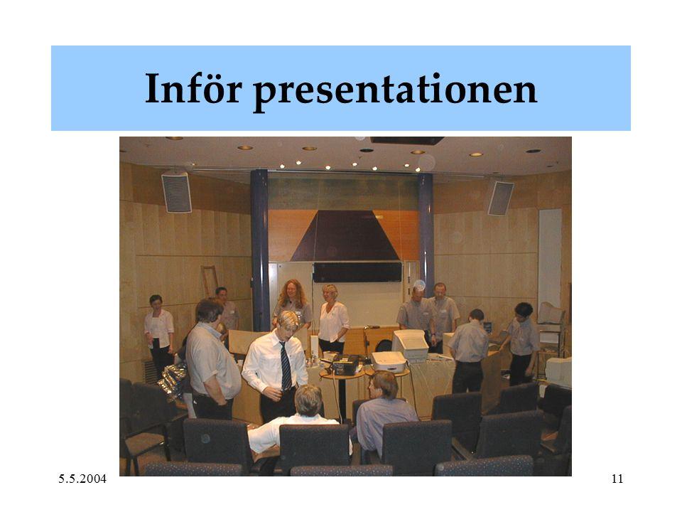 5.5.200411 Inför presentationen