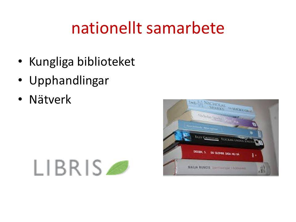 nationellt samarbete Kungliga biblioteket Upphandlingar Nätverk