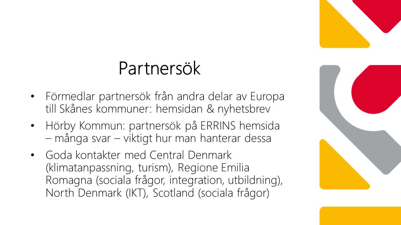 ERRIN (European Regional Research and Innovation Network ) Bra forum för kontakter, partnersök.