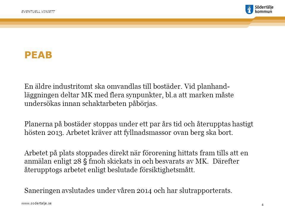 www.sodertalje.se 5 EVENTUELL VINJETT FORIA AB Transportör av massorna från fastigheten är Foria AB som har tillstånd för att köra både avfall och farligt avfall.