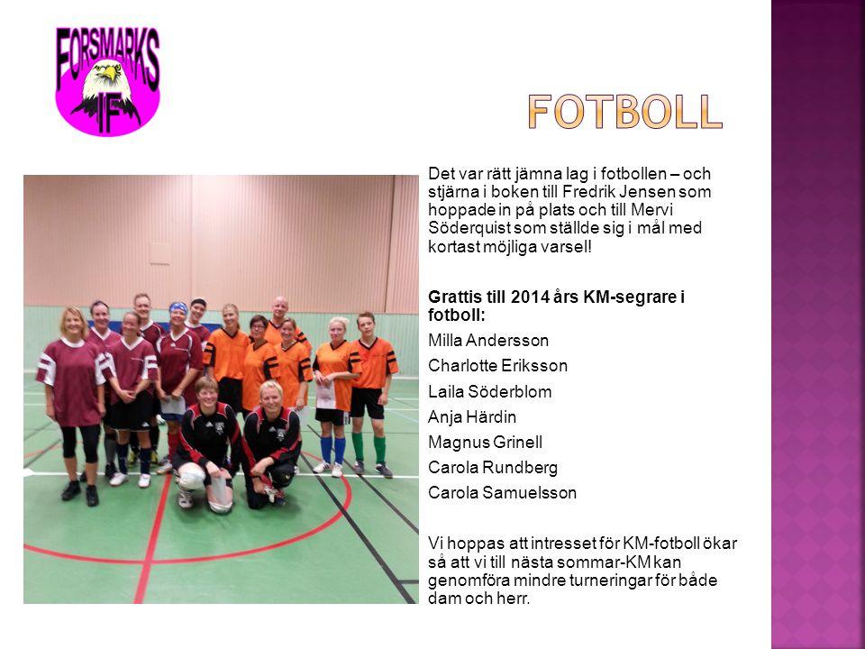 Det var rätt jämna lag i fotbollen – och stjärna i boken till Fredrik Jensen som hoppade in på plats och till Mervi Söderquist som ställde sig i mål m