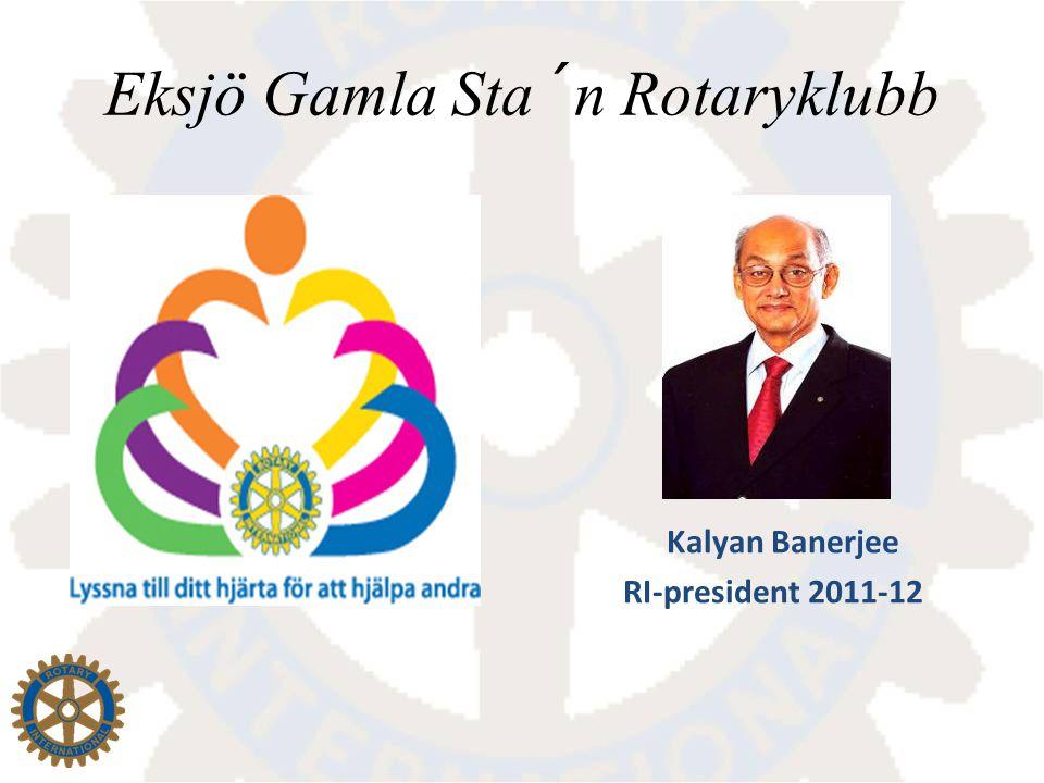 BIDRAG TILL GLÄDJE! Presidentens ledord 2011-2012. Foto Joakim Westberg