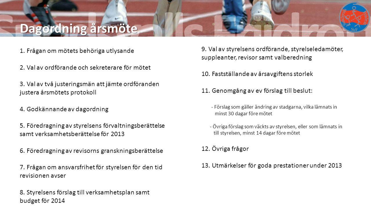 Måluppfyllelse - verksamhetsplanen 2013 Idrottsliga mål 2(2) Specifikation, SM-medaljer