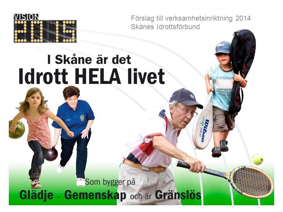 Förslag till verksamhetsplan 2012 - 2013 Förslag till verksamhetsinriktning 2014 Skånes Idrottsförbund