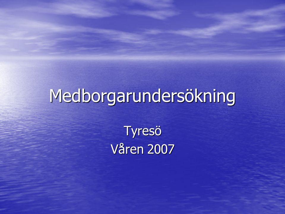 Medborgarundersökning Tyresö Våren 2007