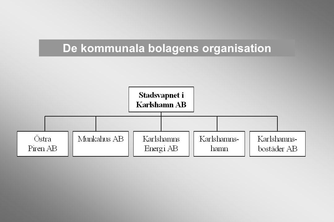 De kommunala bolagens organisation