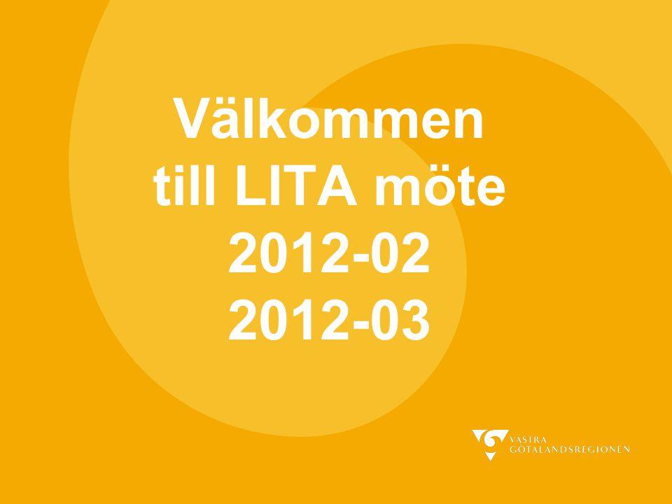 Välkommen till LITA möte 2012-02 2012-03