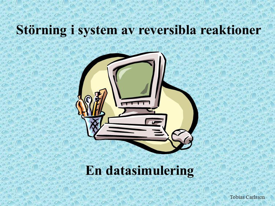 Störning i system av reversibla reaktioner En datasimulering Tobias Carlsson