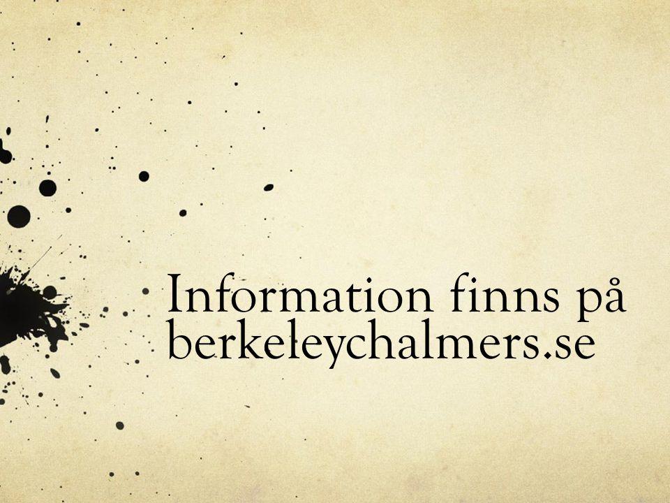 Information finns på berkeleychalmers.se