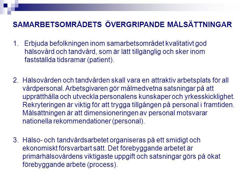 SAMARBETSOMRÅDETS ÖVERGRIPANDE MÅLSÄTTNINGAR 4.
