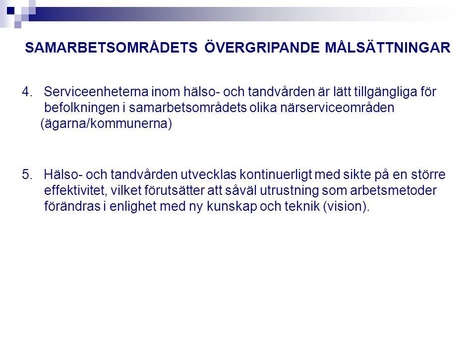 ÖPPEN HÄLSO- OCH SJUKVÅRD INOM SAMARBETSOMRÅDET 1.