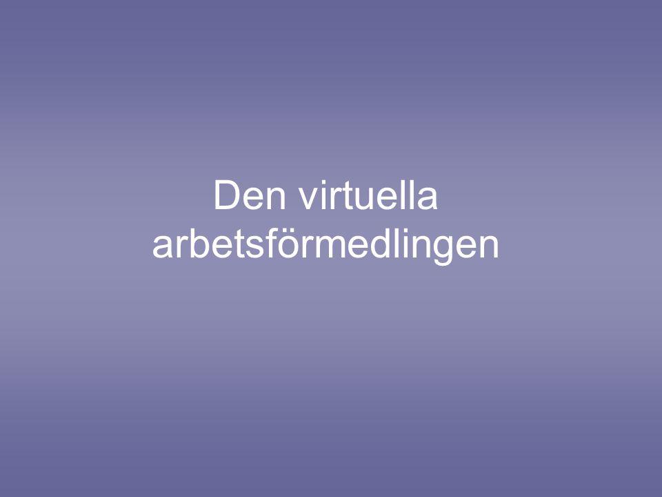 Den virtuella arbetsförmedlingen