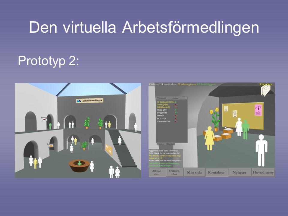 Den virtuella Arbetsförmedlingen Prototyp 2:
