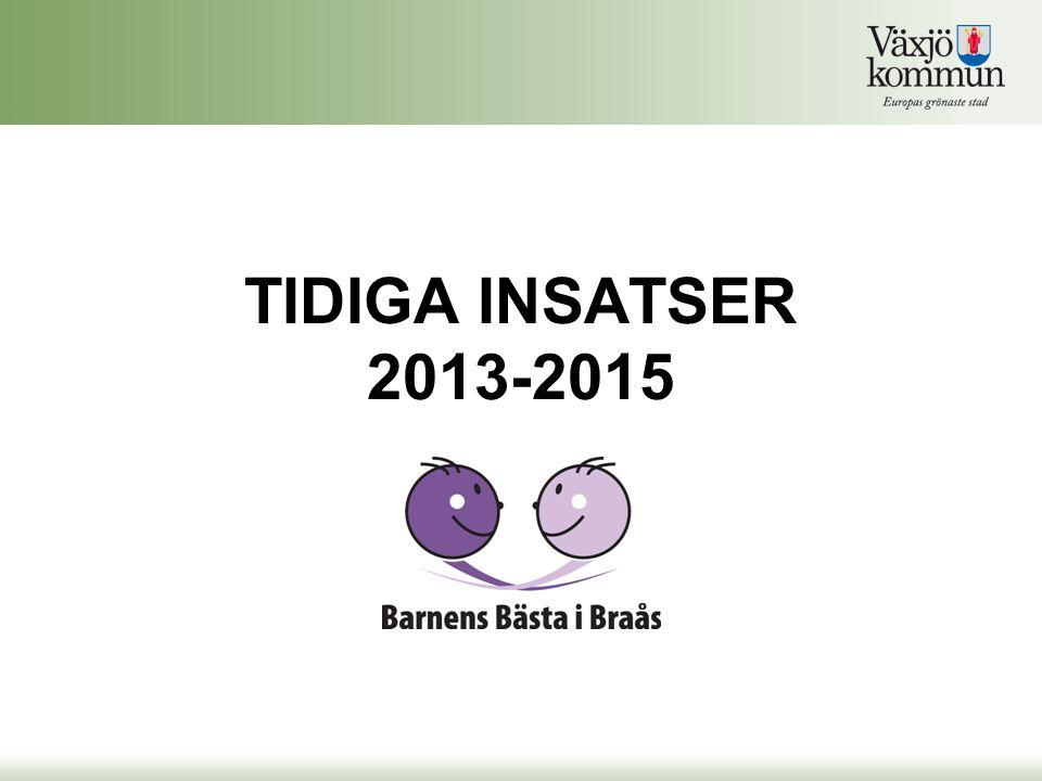 TIDIGA INSATSER 2013-2015