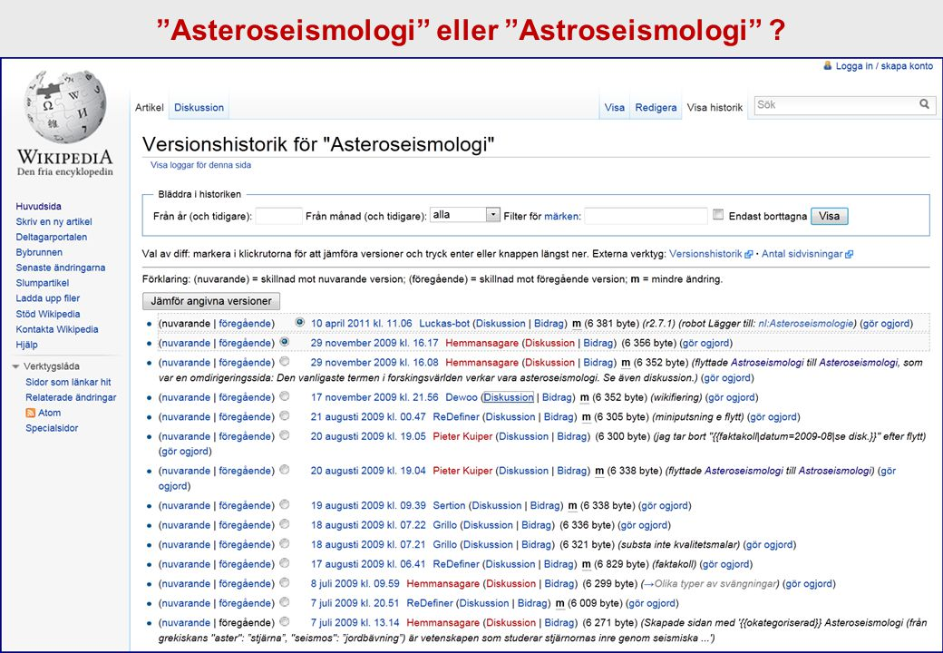 Asteroseismologi eller Astroseismologi