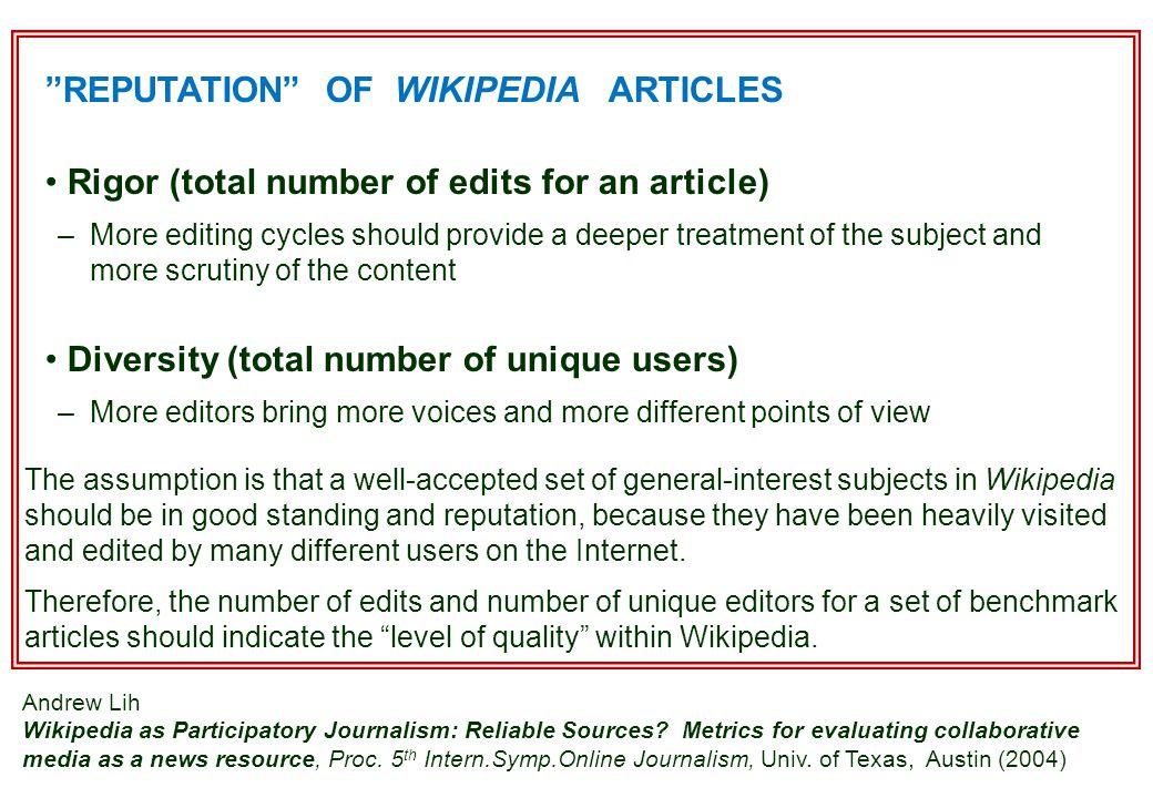 Forskning: Wikipedia utnyttjas för mer allmänna referenser, definitioner samt för nyheter