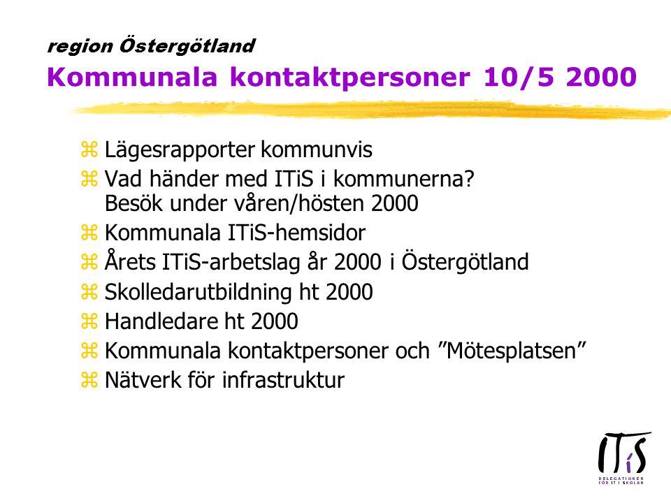 zLägesrapporter kommunvis zVad händer med ITiS i kommunerna.
