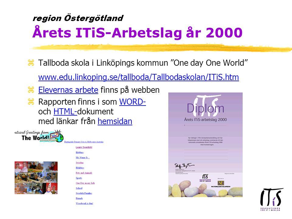 zITiS skolledarutbildningen är obligatorisk yen skolledare från skolor där arbetslag deltar i ITiS måste delta zNy upphandling inför ht 2000 zUtbildningen kommer i höst att tydligare kopplas till det ITiS-arbete som genomförs av arbetslag på den egna skolan zBehov av platser inför ht 2000 anmäles till Sören senast den 9/6 2000 region Östergötland Skolledarutbildning ht 2000
