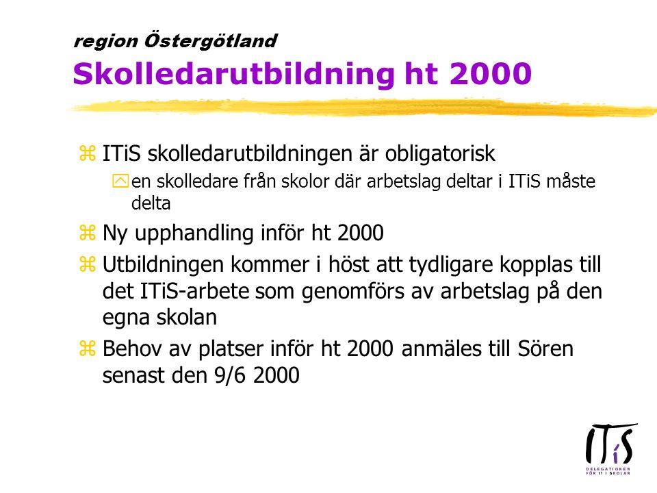 zÅterstående handledare utbildas hösten 2000 yFinns behov av ytterligare handledare.