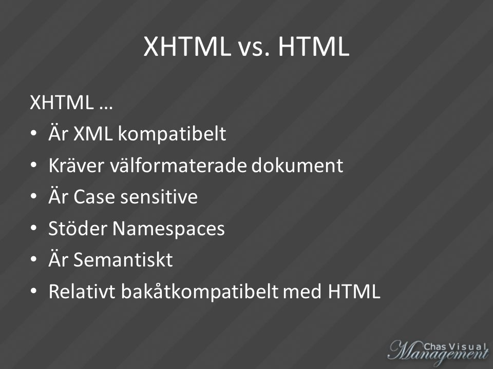 XHTML vs.