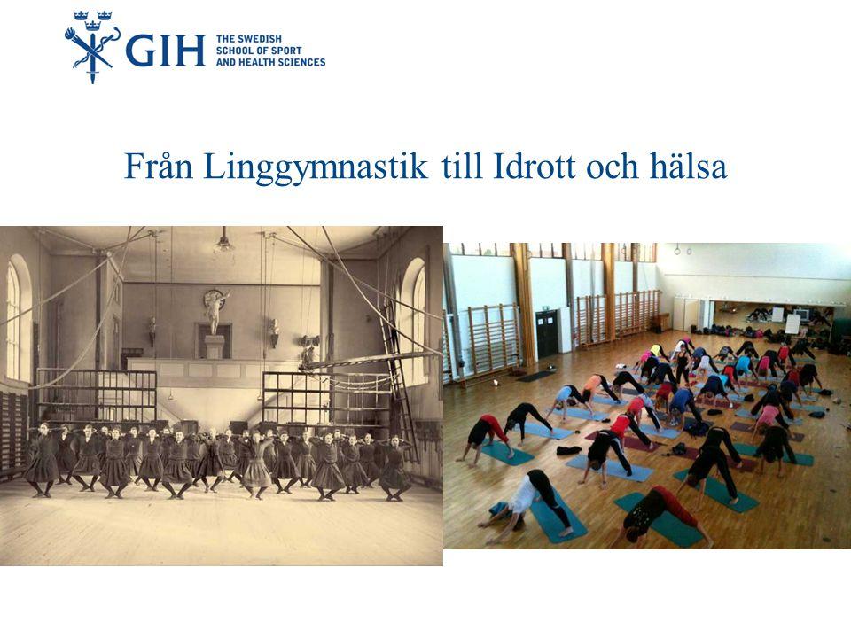 Gymnastik- och idrottshögskolan idag Ämnes- lärarutbildningen Tränarutbildningen Hälsopedagog Sport Management