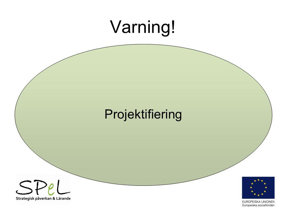 Varning! Projektifiering