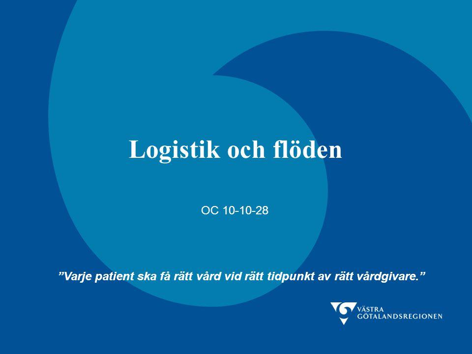 Logistik och flöden OC 10-10-28 Varje patient ska få rätt vård vid rätt tidpunkt av rätt vårdgivare.