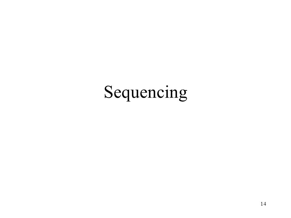14 Sequencing