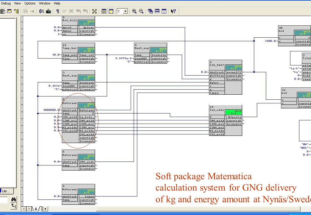 copyright (c) 2011 Stefan Rudbäck, Matematica,+46 708387910, mail@matematica.se, matematica.se sid 40 Soft package Matematica calculation system for GNG delivery of kg and energy amount at Nynäs/Sweden MWh kg