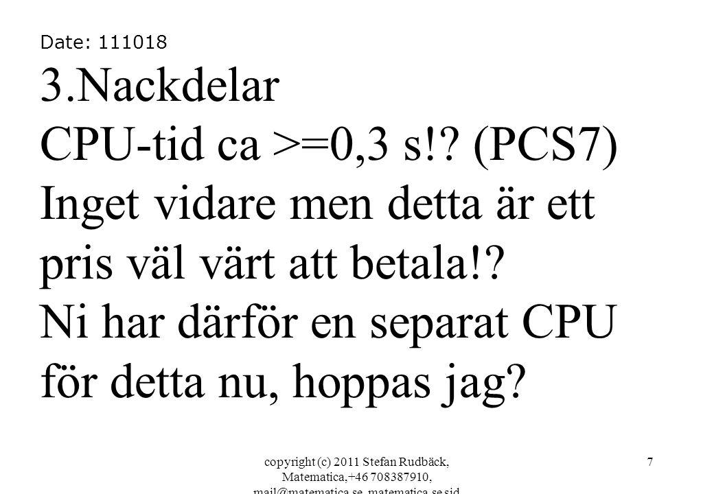 copyright (c) 2011 Stefan Rudbäck, Matematica,+46 708387910, mail@matematica.se, matematica.se sid 38 Matematica.Lib in list form 2