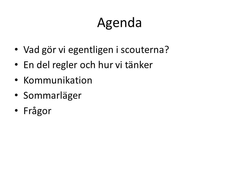 Agenda Vad gör vi egentligen i scouterna.