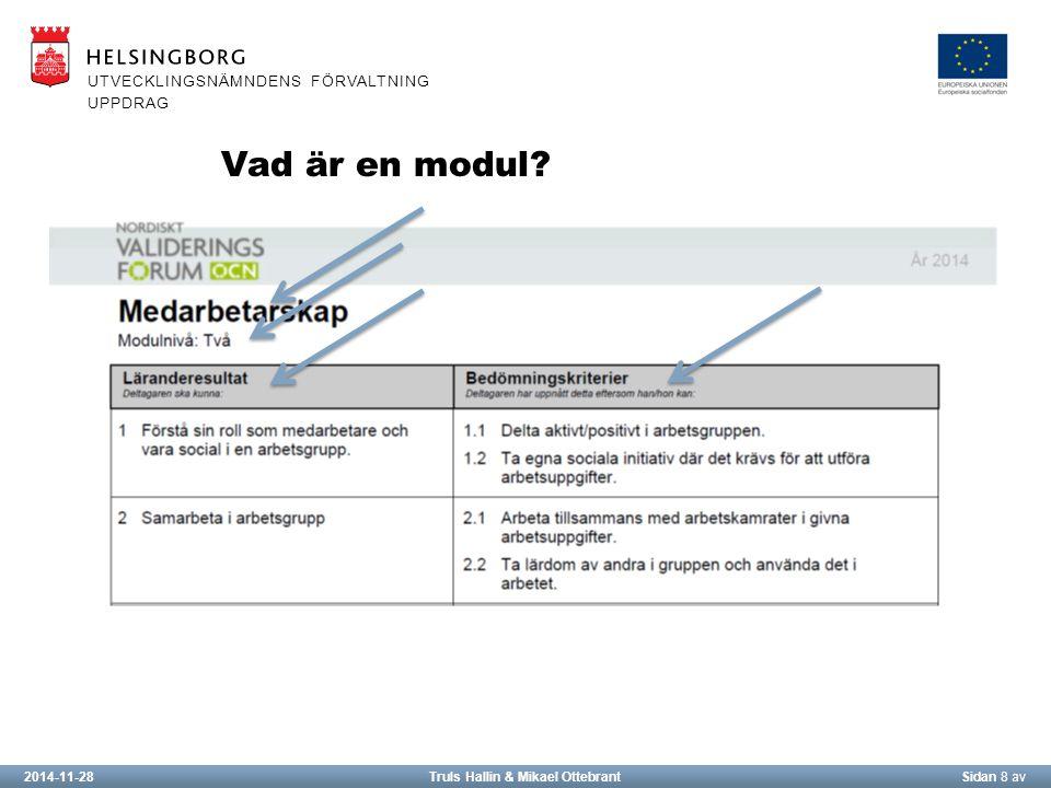 2014-11-28Truls Hallin & Mikael OttebrantSidan 8 av UTVECKLINGSNÄMNDENS FÖRVALTNING UPPDRAG Vad är en modul