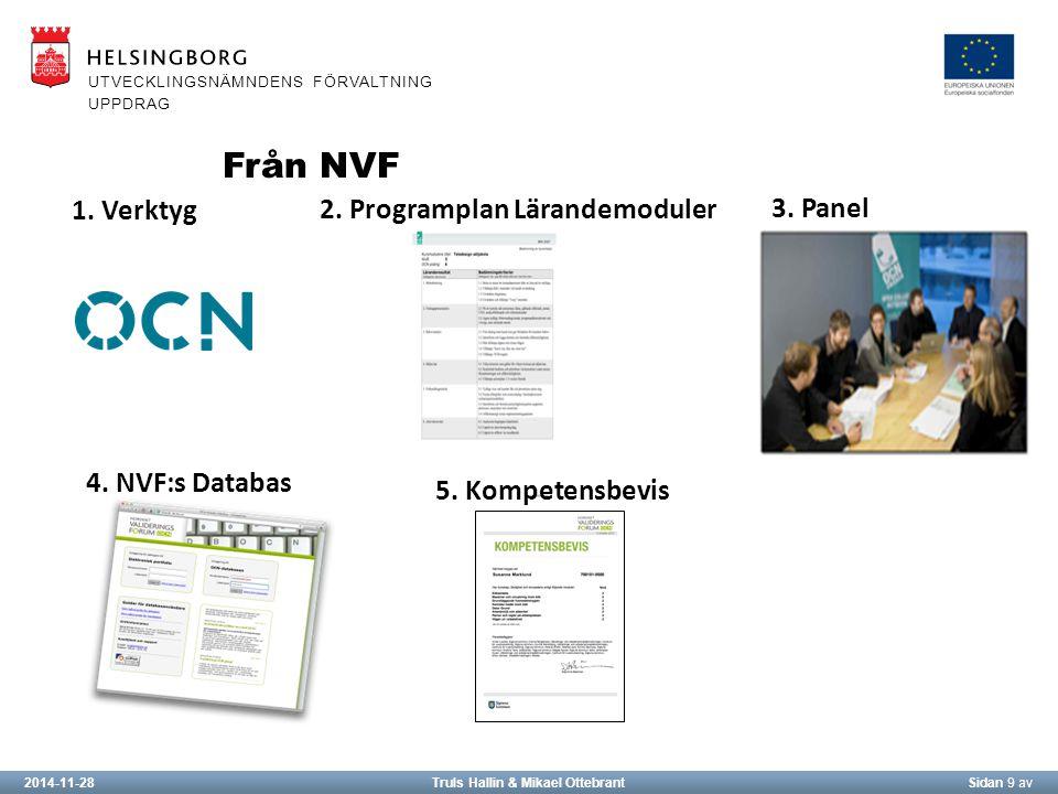 2014-11-28Truls Hallin & Mikael OttebrantSidan 9 av UTVECKLINGSNÄMNDENS FÖRVALTNING UPPDRAG Från NVF 1.