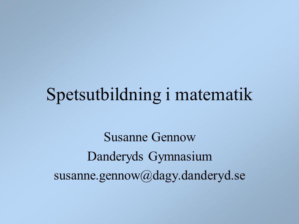 Behöver Sverige ett matematikgymnasium?