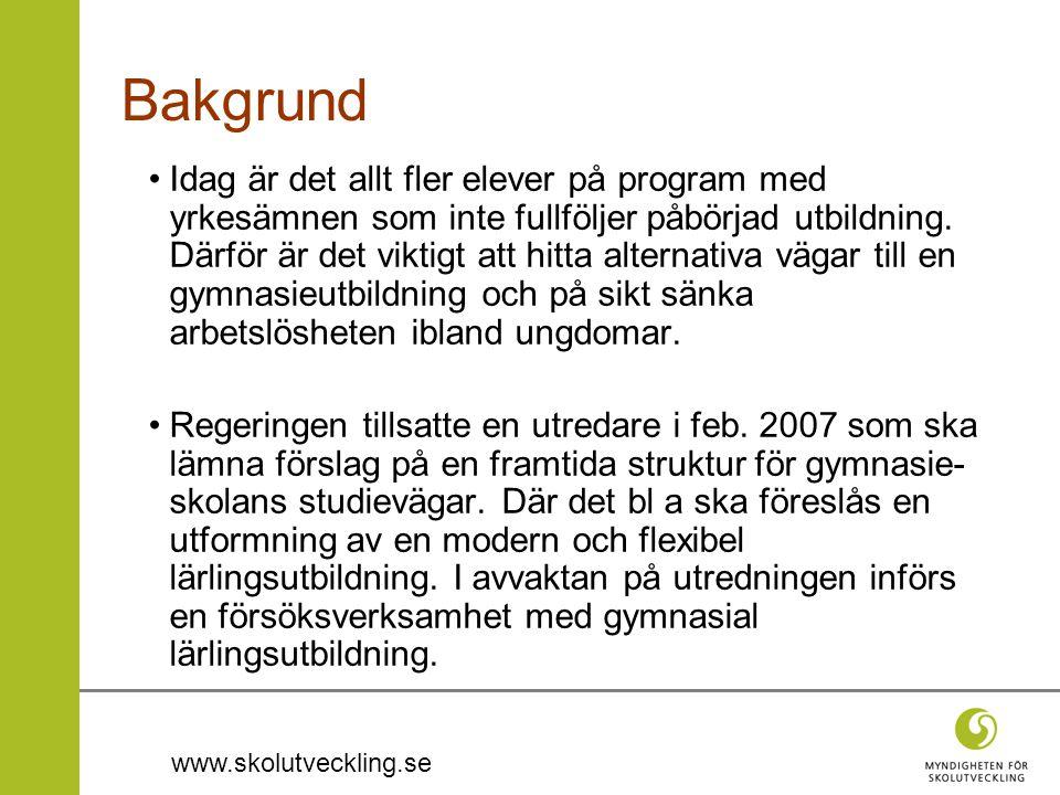 www.skolutveckling.se Idag är det allt fler elever på program med yrkesämnen som inte fullföljer påbörjad utbildning.