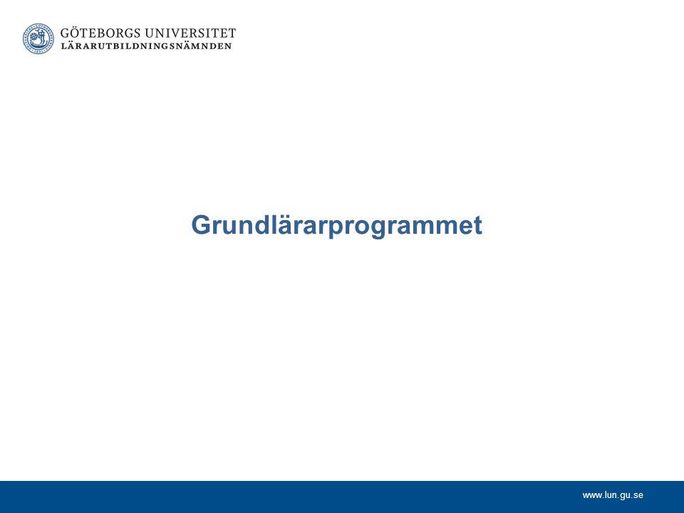 www.lun.gu.se Grundlärarprogrammet
