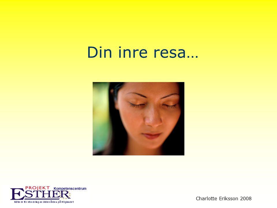 Kompetenscentrum Charlotte Eriksson 2008 Diskutera med grannen: Vad behövde du för hjälpmedel/ praktiska lösningar för att du skulle klara dig självständigt.