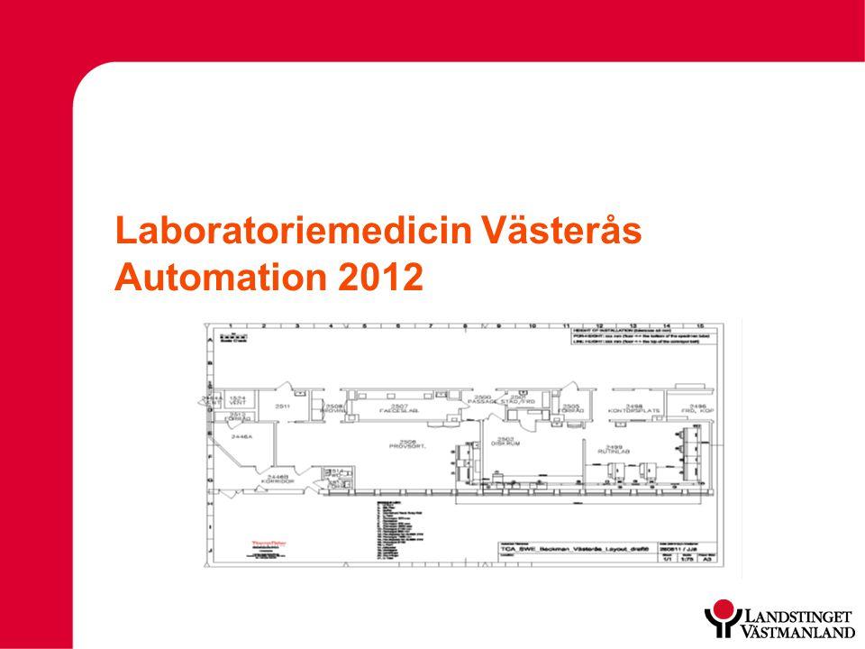 Laboratoriemedicin Västerås Automation 2012
