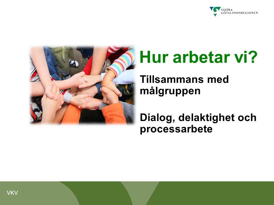 VKV Hur arbetar vi? Tillsammans med målgruppen Dialog, delaktighet och processarbete